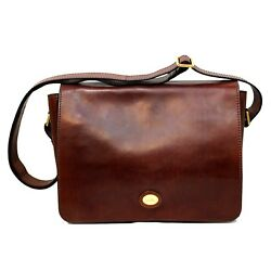 Man briefcase THE BRIDGE brown geniune leather messenger bag new 05275701 14