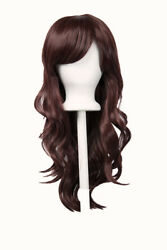 23'' Layered Wavy Cut with Long Bangs Rustic Red Yui Wig