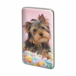 Yorkie Yorkshire Terrier Dog Candy Eggs Easter Rectangle Lapel Pin Tie Tack