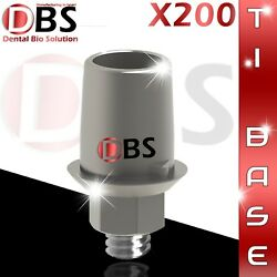 200x Dental Implant Ti-base With Hex + Screws Cad/cam Compatible Hexagon 2.42