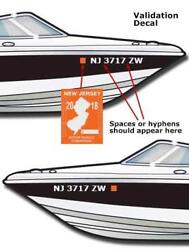 Boat Registration Numbers 2 1/2 X 20 1 Set Lettering Decals Vinyl Water Pwc