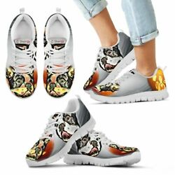 Boston Terrier Halloween Print Running Shoes For Kids- Free Shipping