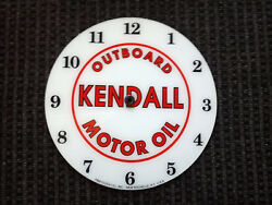 New 14.25 Round Kendall Outboard Boat Gas Oil Glass Clock Face For Pam Wwii
