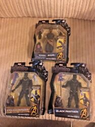 Marvel BLACK PANTHER movie SHURI Eric Killmonger Black panther Vibranium Lot o 3