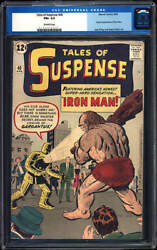 Tales Of Suspense 40 Cgc 6.5 1963 2nd Iron Man After 39 Avengers H7 101 Cm