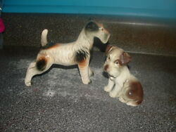 2 - CUTE VINTAGE TERRIER FIGURINES