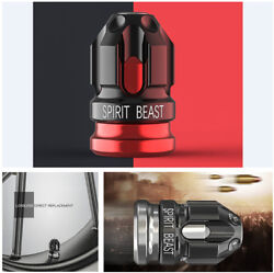 2 Pcs Creative Motorcycle Tire Valve Cover Black And Red Lost Direct Replacement