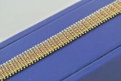 14k Tri Color Gold Ladies Fox Tail Design Bracelet 7 Inches 17gm S104363