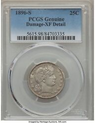 1896-s Barber Quarter 25c Pcgs Xf Details Tough Coin With This Much Detail