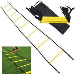Agility Speed Training Ladder 12 Rung Footwork Fitness Football Workout Exercise