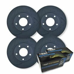 FULL SET DIMPL SLOTTED DISC BRAKE ROTORS+ PADS for Mercedes W164 ML350 2005-2011