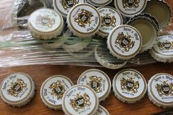 100 Agner And Wolf Beer Bottle Caps White Sword And Wolf No Dents Free Fast Shpng