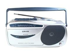 Craig Electronics CD6911 Portable AM FM Radio Cassette Player with Recorder