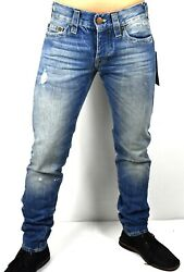 True Religion Menand039s Rocco Relaxed Skinny Jeans - M16sd21x7g Size 30 31