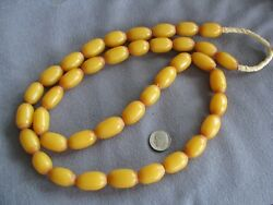 34 Str Vintage African Butterscotch Amber Trade Beads Phenolic Resin