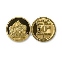 Disney Gold Snow White 50th Anniversary - Witch 1/4 Oz Gold Medal Sku6910