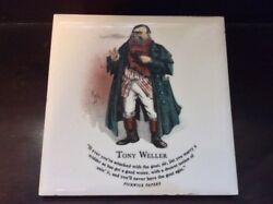 Charles Dickens Character Tiles - Tony Weller - Pickwick Papers - Size 6x6