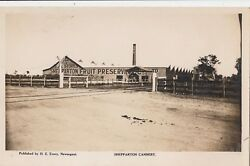 Real Photo Postcard Shepparton Fruit Preserve And Co Cannery Victoria, Scarce