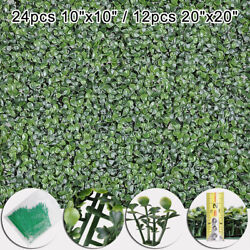 10x10 20x20 Artificial Uv Boxwood Mat Wall Hedge With Ties Fake Grass Fence