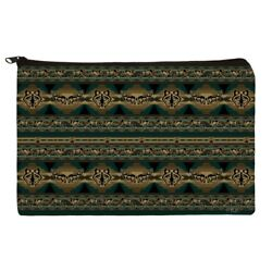 Native American Southwest Wolf Wolves Makeup Cosmetic Bag Organizer Pouch