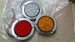 1 Pair 16-led Super Bright White Truck Trailer Marked Tail Lights Reverse Lamps