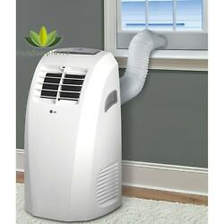 LG 10000 BTU Portable Air Conditioner 115V With Remote Window Kit Factory-Re