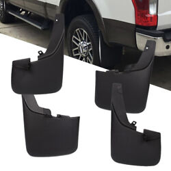 Fits 11-16 Ford F250 F350 Superduty W Fender Flares Mud Flaps Guards 4PCS Set
