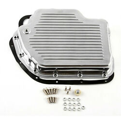 Turbo Th400 Finned Aluminum Transmission Oil Pan Set Polised W/bolts And Gasket