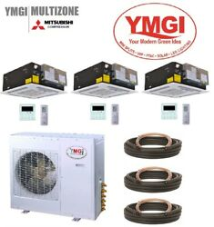 YMGI 54000 BTU 4.5 Ton 3 Zone Ductless Mini Split with Heat Pump for Commercial