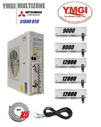 YMGI 54000 BTU Five Zone DUCTLESS SPLIT AIR CONDITIONER WITH HEAT PUMP office