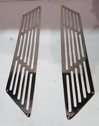 Bertram Yachts , Polished 316 Stainless Steel Exhaust Grills , Stb/port