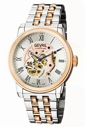 Gevril Menand039s Vanderbilt Watch 2693 Automatic Two-tone Steel See-through Center