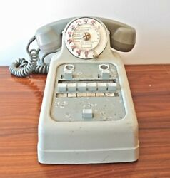Vintage Old Rotary Telephone Switchboard  Reception Ericsson Colombes 1950s