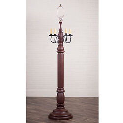 Irvin's Country Tinware General James Floor Lamp Base In Americana Red Country