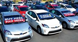 Car Lot Windshield Banners, set of 10 ( Replacing Window Stickers)