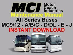 Mci Bus Manuals - Maintenance And Parts - Download Only