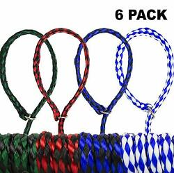 Durable Braided Poly Slip Leads Animal Control Kennel 5 Ft Strong 6 Pack 12 24