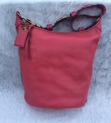 COACH XL Duffle 11423 Bleecker Sac Bucket Bag Pink Magenta RARE!!! Hobo🌺