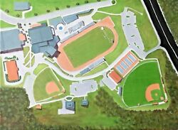 High School Campus Oil Painting Can Be Hung In Any Position See 4 Photos