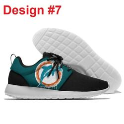 Miami Dolphins Lightweight Tennis Shoes Menand039s Womenand039s Sneakers Football Team New