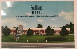 Southland Motel Rowland Nc Postcard Aaa Signs