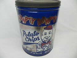 Vintage 2 lb Humpty Dumpty Potato Chip Tin Can Rare Size