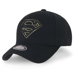 ililily Superman Baseball Cap Shield Embroidery Fitted Trucker Hat