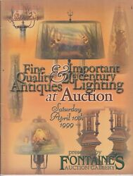 Vintage 1999 Fontaines Auction Gallery Event Catalog April 10th Lamp +