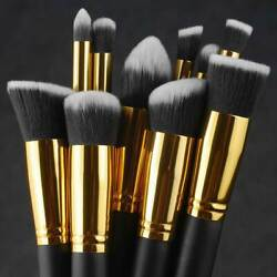 10pcs Makeup Brushes Cosmetic Eyebrow Blush Foundation Powder Kit Set PRO Beauty $6.09