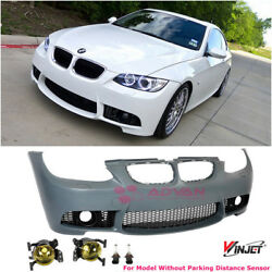 M3 Style Front Bumper For 07-10 BMW E92 3-Series Coupe Yellow Fog Lights NO PDC