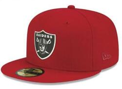 Official Oakland Raiders Nfl Basic Fashion Red New Era 59fifty Fitted Hat
