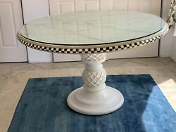 Mackenzie Childs Thistle Table - Ceramic Base - A Retired Design - Exc Condition