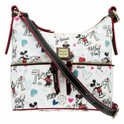BRAND NEW WOMEN'S DOONEY & BOURKE MICKEY & MINNIE MOUSE SWEETHEARTS SHOULDER BAG