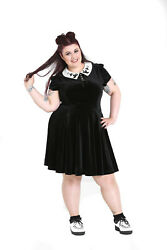 Hell Bunny Plus Size Gothic Wednesday Addams Casper Ghost Mini Dress 2-4x